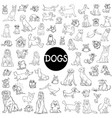 dog characters large collection vector image