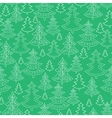 Doodle Christmas trees seamless pattern background vector image vector image