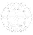 dot stroke planet globe vector image