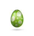 easter egg 3d icon green silver egg isolated vector image