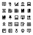 Education and School Icons 9 vector image