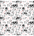 Farm seamless pattern with sheep goat and cow vector image vector image