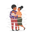 fat obese family standing together african vector image vector image