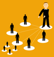 Flat of network business vector image