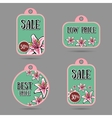 FloralLabels vector image vector image