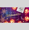frohe weihnachten und ein gutes neues jahr vector image