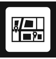 Geo location of taxi icon simple style vector image vector image