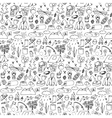 Hand drawn tourism seamless pattern vector image
