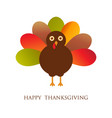 happy thanksgiving with turkey card vector image vector image