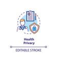 health privacy concept icon vector image vector image