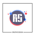 initial letter rs logo template design vector image vector image