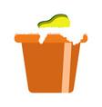 isolated bucket icon vector image