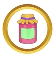 Jam in a glass jar icon vector image vector image