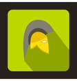 Knight helmet icon flat style vector image vector image