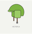 line flat color military icon - army helmet vector image vector image