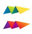 M letter volume logo vector image vector image