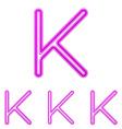 Magenta line k logo design set vector image vector image