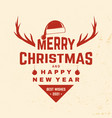 merry christmas and happy new year stamp sticker vector image vector image