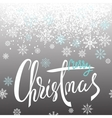 Merry Christmas lettering design with white and vector image vector image