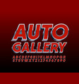 modern banner auto gallery with font vector image vector image