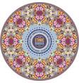 ornamental vintage ethnic round frame vector image vector image