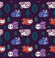 owls seamless pixel pattern in vector image vector image