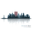 patriot day new york view before september 11 vector image vector image