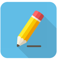 Pencil draws a line icon vector image vector image