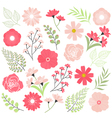 Pink Wedding Flowers vector image