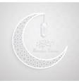 ramadan backgrounds crescent moon with arabic vector image vector image