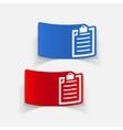 realistic design element clipboard vector image vector image