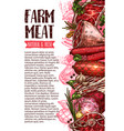 sausage and meat farm product banner template vector image vector image