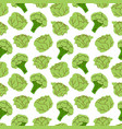 seamless pattern vegetables with elements of vector image