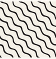 seamless pattern with hand drawn waves abstract vector image vector image