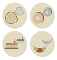 Set of vintage homemade bakery badges vector image