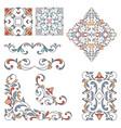 set ornamental floral elements for design