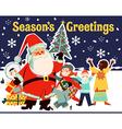 Sixties Santa vector image vector image