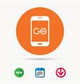 smartphone game icon go symbol vector image