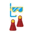snorkeling vector image vector image
