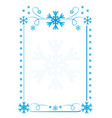snowflakes frame background vector image vector image