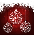 snowflakes red background vector image vector image