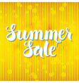 Summer Sale Lettering over Yellow Abstract vector image vector image