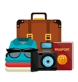 Summer vacation graphic vector image vector image