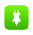 swimsuit icon green vector image
