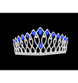 tiara crown womens wedding on the black vector image vector image