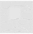 torn edges paper set vector image vector image
