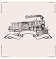 Vintage locomotive banner vector | Price: 1 Credit (USD $1)