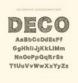 vintage monogram handdrawn letters vector image
