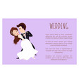 wedding poster newlywed couple dancing first dance vector image vector image