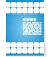White and blue background for brochure or cover vector image vector image